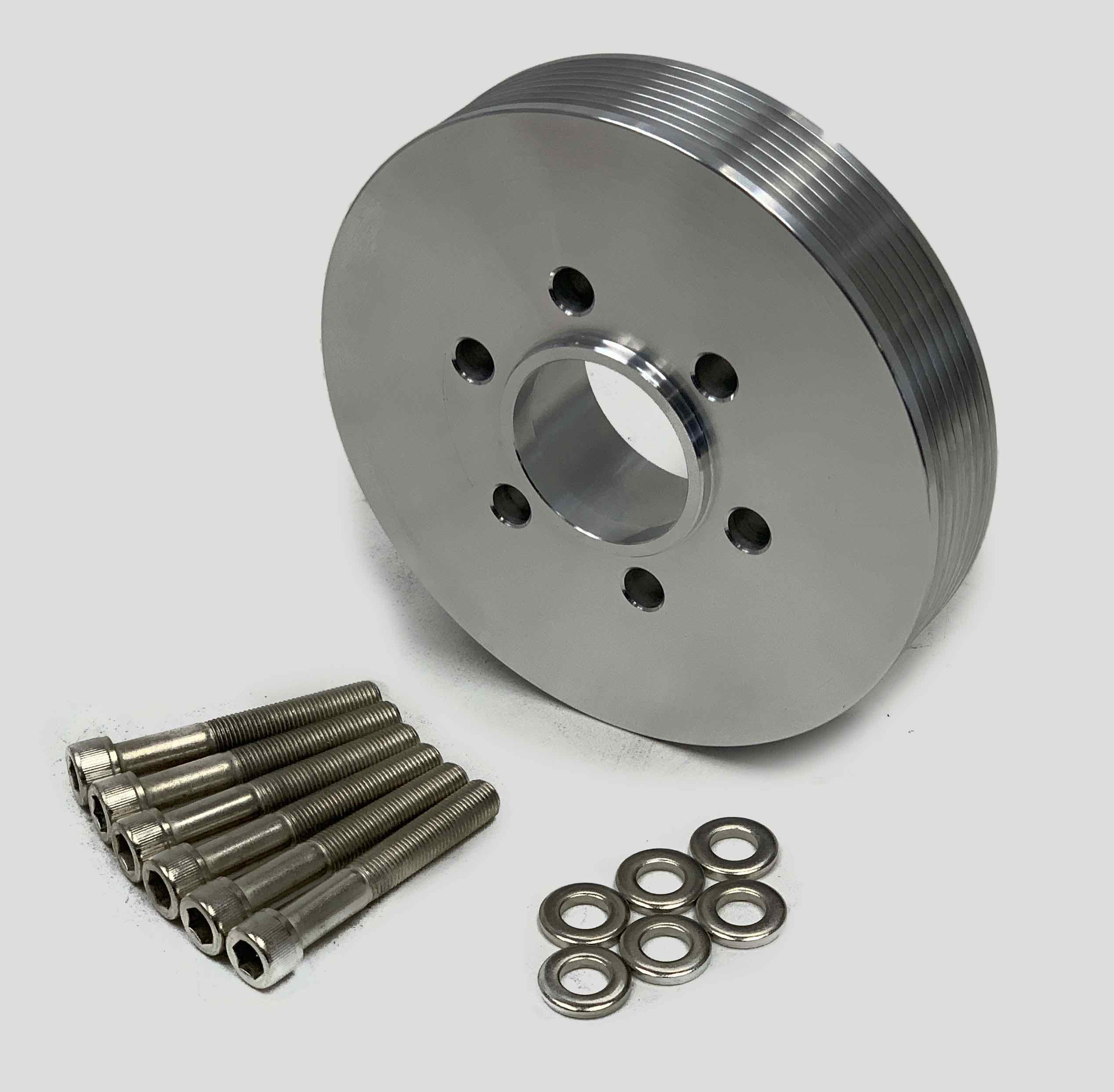 BLOWER SHOP 4220  2 V ACCESSORY PULLEY FOR BIG BLOCK CHEVY WITH BOLTS